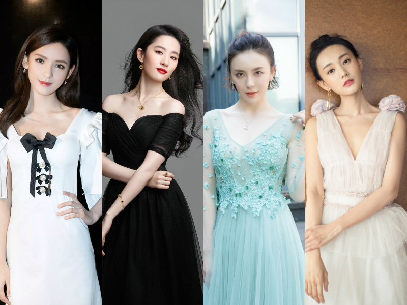 Zhang yuxi's appearance is controversial in the entertainment industry. these actresses all depend on their faces for food.
