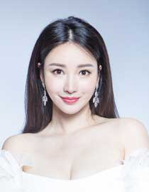 Liu yan (actress-born actress) pure white dress with breasts
