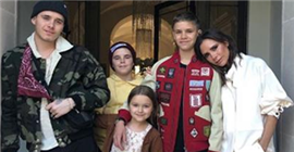 The beckhams have been a hot topic for Victoria birthday.harper seven is still the center of attention.