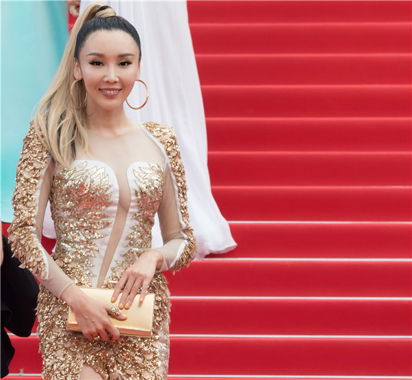 Han ARuNa's Long Yue Feng Ming's appearance at the Cannes Film Festival Oriental Elements