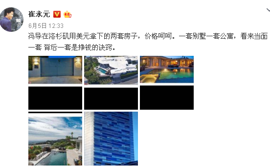 Cui Yongyuan Exposure Feng Xiaogang's Luxury Level Makes Users Satisfied