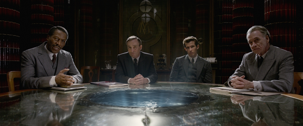 """fantastic beasts: the crimes of grindelwald,"" in which dumbledore talks so much about a 'student-teacher' session that newt can barely say anything back."