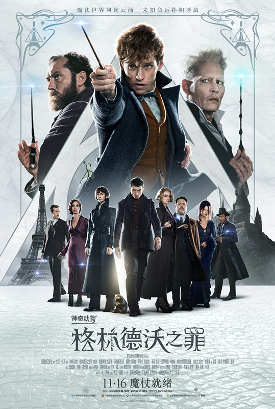 Fantastic beasts: the sin of grindelwald' swept the 200 million yuan box office in two days and hit the hot search box to set off a nationwide magic spree