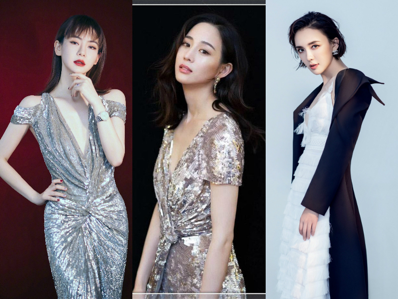 Qi wei chun-ning chang jiarong lv's deep v skirt changes the previous image. who is the most attractive?